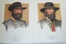 New listing CSA CONFEDERATE GENERALS HAMPTON & HILL art prints by Mike Gnatek 1990 CAVALRY