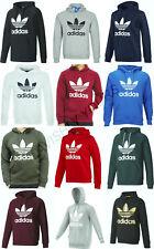 Men`s Original Adidas Trefoil Fleece HOODIE Fleece Sweatshirt Pullover Jumper