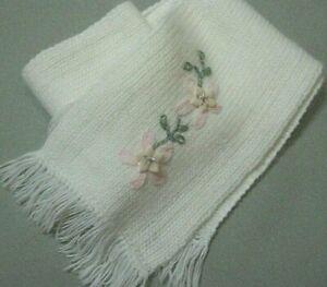 gorgeous hand embroidered ex designer girls scarves ~ 2 cols ~ 12 x 100cm