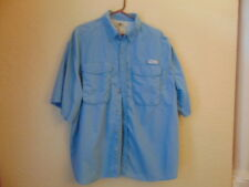NWOT Men's J.E. Marlin Blue Nylon Fishing Shirt-2XL