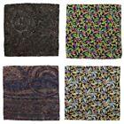 Lot of 4 Men's SANTOSTEFANO Abstract Silk Handkerchief Pocket Square Bundle