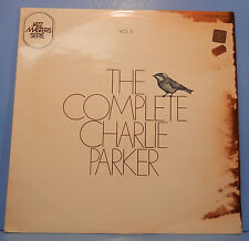 THE COMPLETE CHARLIE PARKER VOL. 3 VINYL LP 1969 FRANCE GREAT COND! VG++/G+!!