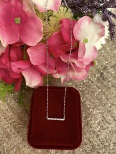 18K White Gold Necklace, White Gold Necklace, Diamond Necklace, 18K Necklace