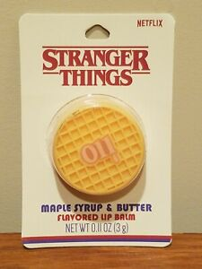 Stranger Things Netflix Eleven Eggo Waffle Butter Maple Syrup Flavored Lip Balm