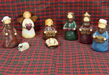 "Holy Family Nativity Scene ""Faith, Joy, Hope, Love"" 9pc 3.5"" Figures Hatten-like"