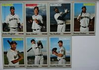 2019 Topps Heritage High Number Mariners Base Team Set Of 7 Cards