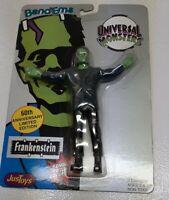VTG MOC 1990 Universal Monsters 60th Anniversary Frankenstein Bend-Ems Bendy Toy