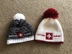 Swiss Ski team Lot of 2 Winter Ski Hats Raiffeissen
