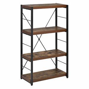 ACME Furniture 43 Inch 3 Tier Bookcase Organizer Storage Shelf, Weathered Oak
