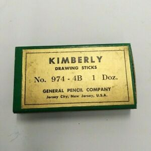 NEW OLD STOCK KIMBERLY DRAWING STICKS 974-4B 1 DOZEN GENERAL PENCIL COMPANY
