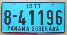 Panama 1977 SOBERANA License Plate HIGH QUALITY # 8-41196