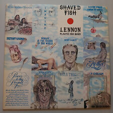 John Lennon - Shaved Fish Vinyl LP + Inner UK 1st 1U/1U Best Of Greatest Hits