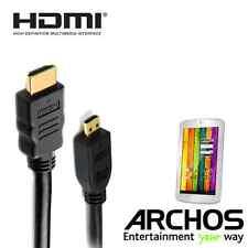 Archos 101 XENON, 70b Titanio, 80 CESIUM HDMI MICRO HDMI MONITOR TV 2M Cavo