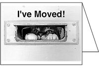 MOVING ANNOUNCEMENT-Set of 10-Change of address Greeting Card I've Moved 4586CAS