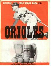 1964 (7/26) Baseball Program Washington Senators @ Baltimore Orioles,unscored~Fr