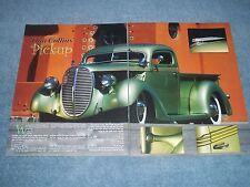 """1938 Ford Custom Truck Article """"Dan Collins' Pickup"""""""