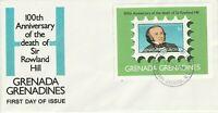 GRENADA GRENADINES 1979 ROWLAND HILL CENTENARY MINIATURE SHEET FIRST DAY COVER