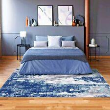Rugs Area Rugs Carpets 8x10 Rug Modern Large Blue Floor Bedroom Grey 5x7 Rugs ~