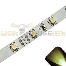 Warm/Soft White - PLCC2/3528 12V LED Strip - Adhesive Backing - 5m Roll / Reel