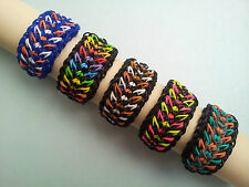 Rainbow Loom Rubber Band Bracelet - Galaxy, Pick or Custom Made