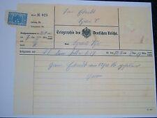 GERMAN - Reichs Death Telegram, for a Fallen Soldier. 1916.