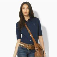 Ralph Lauren Women's Long Sleeve Shirt Navy Shirt 65% OFF RRP