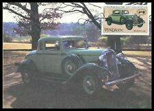 Venda MK 1986 Automobili CARS Plymouth COUPE 1933 scheda MAXIMUM MAXI CARD MC cm cr66