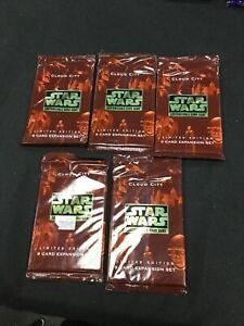 Star Wars CCG Cloud City Booster Packs x5 (Sealed, OOP)