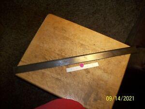 """Starrett 385-24 Steel Straight Edge,1 Bevel,24"""" G.U.C."""