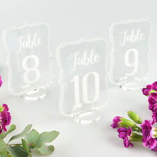Royal Shape Acrylic Table Numbers with Stand, Beautiful, Decoration, Wedding