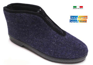 Pantofole ciabatte uomo/donna con cerniera economiche calde invernali  Italiane