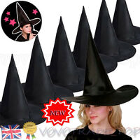 6Pcs Halloween Witch Hat Womens Black Halloween Costume Accessory Cap Newest Lot