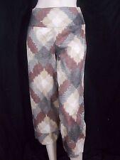 JACQUELINE RIU  Taille  36 Superbe pantacourt corsaire coton gris marron beige