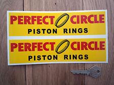 PERFECT CIRCLE adhesivos para coche 20.3cm Par NASCAR Hot Rod Daytona Pistón