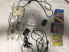 SEGA DREAMCAST Game Console W/ 2 Controllers & 3 Games