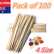 4 Size Bamboo Wooden BBQ Party Skewers Disposable Sticks Meat Food Long Catering