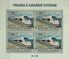 Siemens Velaro Ice 3 (DB Klasse 407) Highspeed Zug Stempel Blatt (2013 Burundi)