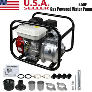 """Gas Powered Water Pump 140GPM Water Transfer High Pressure Irrigation 2"""" 6.5HP"""