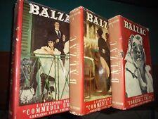 """De Balzac O.; I CAPOLAVORI DELLA """" COMMEDIA UMANA """" , in 3 volumi ; Ed. Casini"""