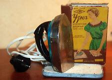 Electrical Travel Mini Flat Iron Vintage Soviet Original in original box 1956