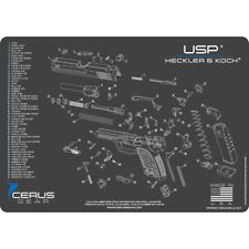 TECHNICAL DIAGRAM GUN CLEANING MAT for HECKLER & KOCH HK USP PISTOL ProMat USA