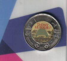 Canadian 2019 Toonie 75 years D-Day Commemorative 1944-2019 two dollar coin