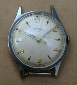 Vintage Swiss made Doxa mens mechanical wrist watch for spares or repair