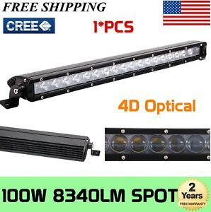 "21""inch 100W Combo LED Single Row SLIM Work Light Bar Ford Chevy 20""126W 22""120W"