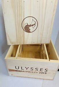 Ulysses Red Wine Box Case Wooden Wine Cellar Crate Winery Napa Valley 6 Bottles