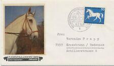 BERLIN 1969, Jugend: Pferde 50 + 25 Pf Vollblut Kab.-FDC selt. EF portogerecht