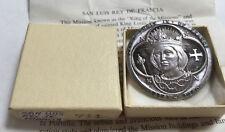 California Mission San Luis Rey De Francia Medal Silver Beautiful Toning Ser 744