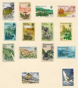 Tristan da Cunha fine used 1972 Flowers and  issues
