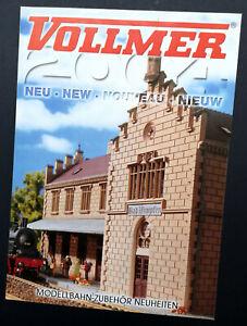 """Vollmer Prospekt """"Neu 2004"""", DIN A4, 12 Seiten, Neu!"""