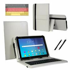 10.1 pulgadas QWERTZ Tablet bolsa-alcatel 1t 10 funda-teclado blanco